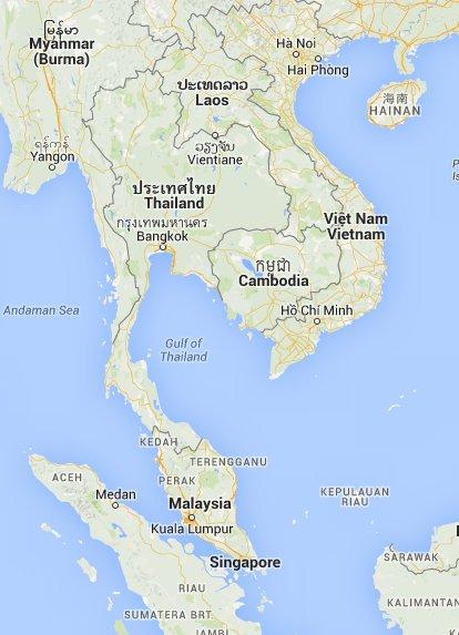Karte Thailand Kambodscha.X 7 Bis 60 Tage Privat Gefuehrte 4x4 Rundreise Durch